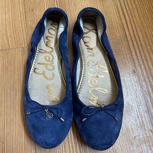 Sam Edelman blue suede ballet flats SIZE 9